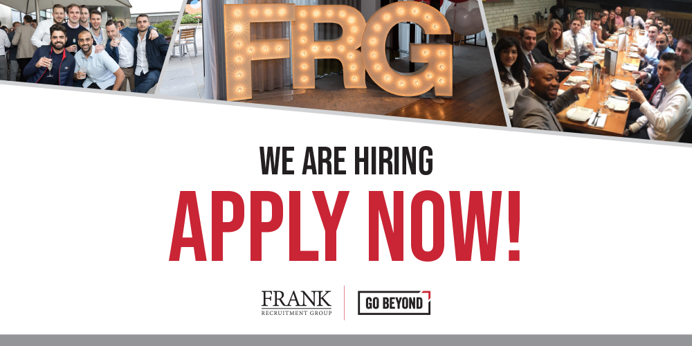 Frank Recruitment Group is hiring - apply now!